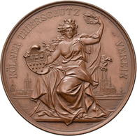 Medaillen Deutschland: Köln: Lot 3 Stück; Bronzemedaille O. J. Von Lauer, Des Tierschutz-Verein, Für - Germany