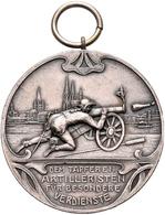 Medaillen Deutschland: Köln: Versilberte Bronzemedaille 1905, Signiert Frz. Chr. Hamm, Der Kölner Fu - Germany