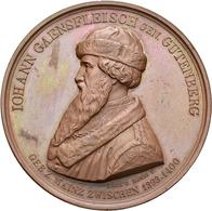 Medaillen Deutschland: Leipzig: Bronzemedaille 1840 Von König/Loos, Auf Die 400 Jahrfeier Der Erfind - Germany