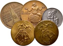 Medaillen Deutschland: Lot 5 Medaillen Auf Die Not- Und Teuerung Im Jahr 1923, Sehr Schön, Sehr Schö - Germany