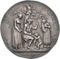 Medaillen Deutschland: Nürnberg: Einseitiger Silberabschlag 1817 Der Medaille 1816/1817 Von Stettner - Germany