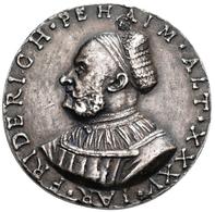 Medaillen Deutschland: Nürnberg: Einseitiges, Versilbertes Galvano Der Medaille 1526 Auf Friedrich B - Germany