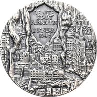 Medaillen Deutschland: Nürnberg: Silbermedaille 1995, Von Veroi, Auf 50 Jahre Frieden, 50 Mm, 79,86 - Germany