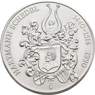 Medaillen Deutschland: Nürnberg: Silberne Schraubmedaille 1990 - Hartmann Schedel, Inhalt: 15 Kolori - Germany
