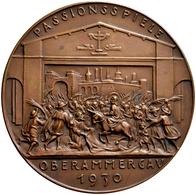 Medaillen Deutschland: Oberammergau: Bronzemedaille 1930, Von Karl Goetz, Auf Die Passionsspiele In - Germany