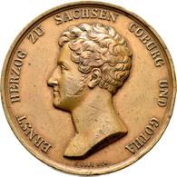 Medaillen Deutschland: Sachsen-Coburg-Gotha, Ernst I. 1806-1844: Bronzemedaille 1826 Von C. Pfeuffer - Germany