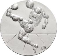 Medaillen Deutschland: Salvador Dali: Set Von 2 Hochrelief-Silbermedaillen Zur Fussball Welt-Meister - Germany