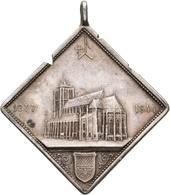 Medaillen Deutschland: Ulm: Silberne Klippe 1890 (Münsterthaler) Von G. Schiller, Auf Die Vollendung - Germany