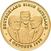 Medaillen Deutschland - Personen: Deutschland Einig Vaterland - 1. Oktober 1990: Eine Medaille Aus 9 - Germany