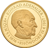 Medaillen Deutschland - Personen: Konrad Adenauer, 1. Bundeskanzler Der Bundesrepublik Deutschland. - Germany