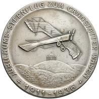 Medaillen Deutschland - Geographisch: Stuttgart: Versilberte Bronzemedaille 1936, Sternflug Zum Cann - Germany