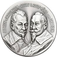 Medaillen Deutschland - Sonstige: Krieg Und Frieden: Silbermedaille 1982, Auf Die Schlacht An Der Al - Germany