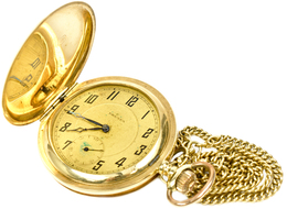 """Uhren: Schöne Alte Gold Sprungdeckel-Taschenuhr, Marke """"DRUSUS"""", Um 1900, Material Gold 585/1000, Ge - Jewels & Clocks"""
