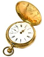 """Uhren: Goldene Herrenarmbanduhr, Beide Deckel (Vorder- Und Rückseite) Gepunzt """"585"""", Glas Fehlt, Led - Jewels & Clocks"""