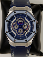 Uhren: Herrenarmbanduhr Stührling Cal. St-90098 (Model 181A 332B51 Nemo Calendar). In Box, Neuware. - Jewels & Clocks