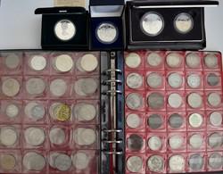 Alle Welt: Ein Album Und 3 Schatullen Mit Münzen Aus Aller Welt, Dabei USA, Kanada, Österreich, Drit - Coins
