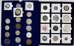 Alle Welt: Kleine Partie In 2 Tableaux, Ab 18. Jahrhundert, Dabei 1 Kr. Aus Dem Jahr 1762 Und 1794, - Coins