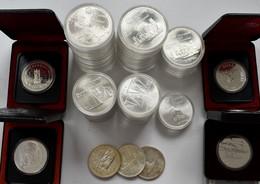Kanada: Kleine Sammlung Kanada, Dabei: Olympiade Montreal - 24 X 10 CAD Sowie 22 X 5 CAD, Keine Voll - Canada