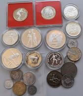 Kuba: Lot 21 Münzen Aus Kuba, Davon 10 Silber Gedenkmünzen, überwiegend Sportmotiv. - Cuba