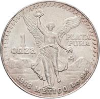Mexiko: Lot 7 Silbermünzen; 8 Reales 1890, 1 Peso 1910, 2 Pesos 1921, 5 Pesos 1947, 5 Pesos 1953, 25 - Mexico