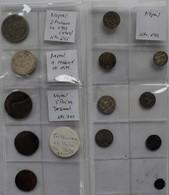 Nepal: Lot 13 Münzen, Dabei: Mohar 1971VS (KM# 682); 2 Mohars 1972VS (KM# 695); Sowie 3 X Kupfermünz - Nepal