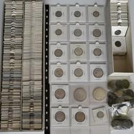 Frankreich: Geschätzte 250 Kleinmünzen Ab Ca. 1850 Aus Frankreich, Sauber In Münzrämchen Aufbewahrt - 1789-1795 Franz. Revolution
