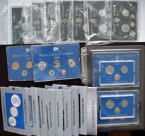 Norwegen: Sammlung 24 Diverse Kursmünzensätze Aus Norwegen. Dabei Beide Qualitäten Bankfrisch Und Po - Norway