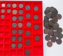 Russland: Sammlung Von 60 Russischen Bronzemünzen Aus Dem 18./19. Jahrhundert, Dabei Poluschka (5), - Russia