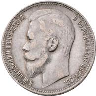 Russland: Lot 3 Stück; Rubel 1899, 1921, 1924, Sehr Schön-vorzüglich. - Russia