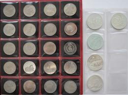 Russland: Russland / UdSSR: Lot Lot 5 X 3 Rubel Aus Silber (1990+1993 [2x]/1994/1995) Sowie 20 Münze - Russia