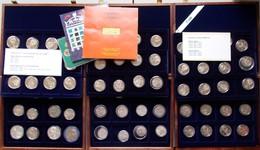 Sowjetunion: 3 Zweilagige Hozlkasetten Voll Mit Gedenkmünzen (72 Stück) Aus Der UdSSR. Dazu Noch Der - Russia