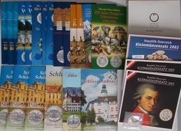 Österreich: Eurosammlung Mit Folgendem Inhalt: 1 X KMS Pp (2003); 3 X KMS St (2002/2003); 14 X 5 Eur - Austria