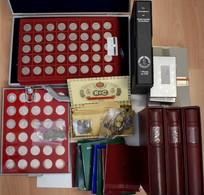 Deutschland: Sammlung Münzen Drittes Reich Bis Bundesrepublik, Dabei Viele Kleinmünzen Von 1 Pf. Bis - Germania
