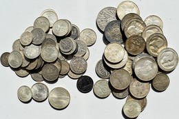 Deutschland: Lot Silbermünzen Kaiserreich, Weimarer Republik, Drittes Reich, Von ½ Mark Bis 5 Mark. - Germania