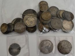Deutschland: Lot 48 Silbermünzen; Frankfurt Vereinstaler 1860, Preussen Siegestaler 1871, Sachsen 5 - Germania