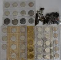 Deutschland: Kleiner Nachlass; Meist 5+10 D-Mark Münzen, Sowie Kleinmünzen Aus Aller Welt. - Germania