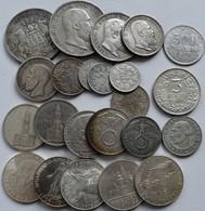 Deutschland: Kleines Lot 23 Münzen, überwiegend Aus Deutschland Und Silber. Dabei Kaiserreich Und Dr - Germania