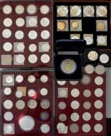 Medaillen - ECU: Bevor Der Euro Kam: Eine Sehr Umfangreiche Sammlung Mit über 130 ECU Münzen Und Med - Altri