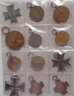 Orden & Ehrenzeichen: Lot 12 Stück, Orden, Medaillen U.s.w. Dabei: Baden Regierungs-Erinnerungsmedai - Coins