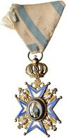Orden & Ehrenzeichen: Serbien, Petar I. 1903-1918: St. Sava Orden, Offizierskreuz, 2. Typ, Der Heili - Coins
