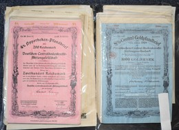 Alte Aktien / Wertpapiere: 618 Verschiedene Echte Und Originale Aktien Und Anleihen (über 3 Kg) Aus - Hist. Wertpapiere - Nonvaleurs