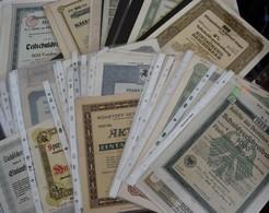 Alte Aktien / Wertpapiere: Lot Ca. 50 Diverser Aktien, Schatzanweisungen, Schuldverschreibungen, übe - Shareholdings
