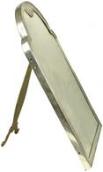Varia, Sonstiges: Antiker Standspiegel Aus Dem Elsaß, Circa 1880/1885, Mit Rahmen Aus Silber, Oben M - Ohne Zuordnung