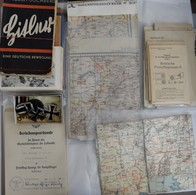 Varia, Sonstiges: Drittes Reich 1933-1945: Dokumente, Auszeichnungen, Postkarten Und Landkarten Eine - Ohne Zuordnung