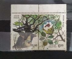 India 1997 Parijat Tree   Se-tenant Pair Used - India