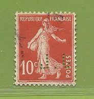 Y & T  N° 138  Perforé   J .  L  66  Ind  8 - France