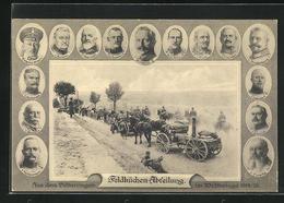 AK Feldküche-Abteilung Im Weltkrieg 1914-15, Heerführerportraits - Guerre 1914-18