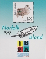 Norfolk Island ASC 685 MS 1999 IBRA Ducks, Miniature Sheet, Mint Never Hinged - Norfolk Island