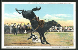 AK Rodeo, Midnight World`s Famous Bucking Horse, Frontier Days, Cheyenne, Wyoming - Native Americans