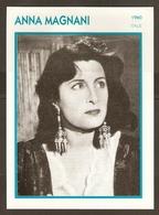 PORTRAIT DE STAR 1960 ITALIE ITALIA ITALY - ACTRICE ANNA MAGNANI - ACTRESS CINEMA - Photographs